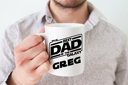 Personalized Best Dad in the Galaxy Mug