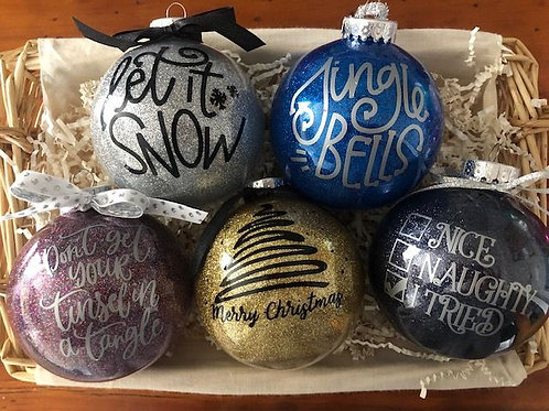 Holiday Sentiment Ornaments