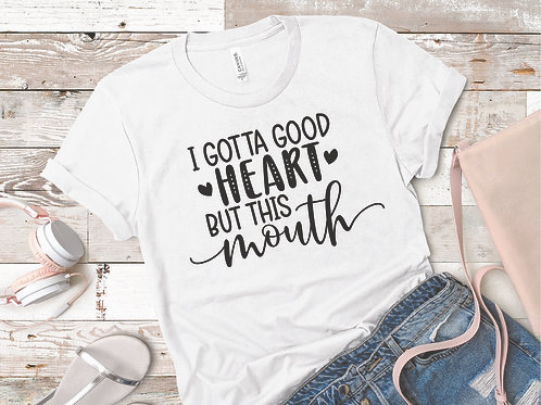 personalized products and gifts good heart t-shirt white