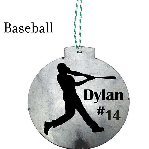 PERSONALIZED Sports Ornament