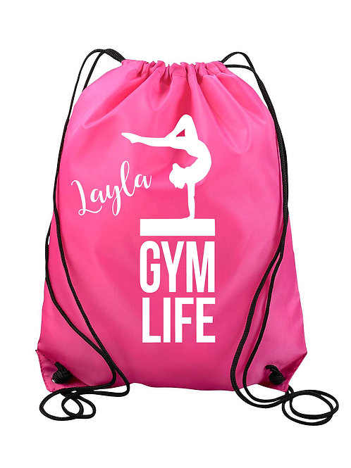 Personalized Gym Life Drawstring Backpack