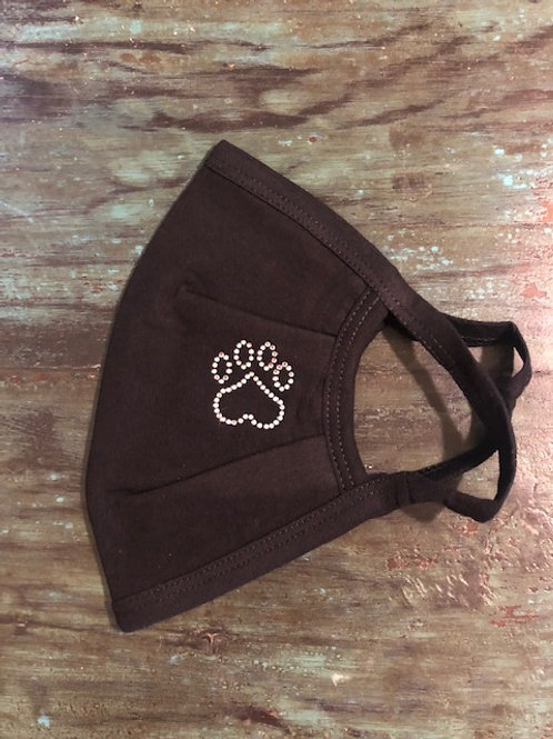 Rhinestone Dog Paw Mask