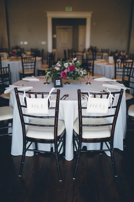 Lindsay Arnold Wedding - Mr. & Mrs. signs