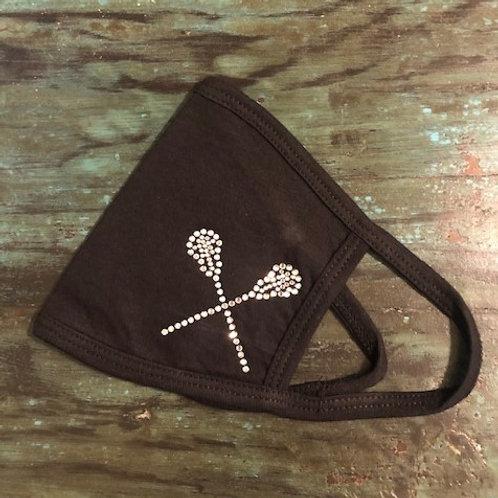 Rhinestone Lacrosse Sticks Mask