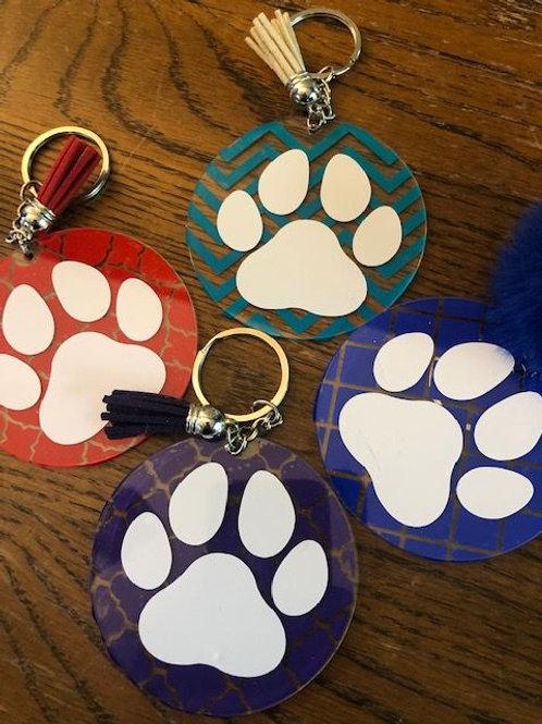 Dog Paw Keychain