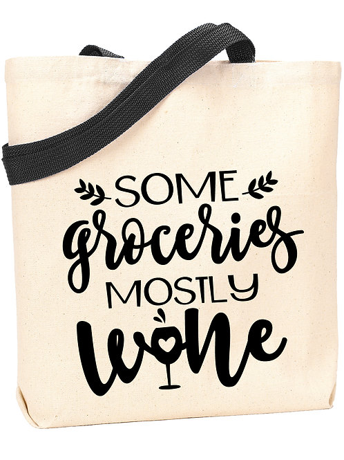 Some Groceries, Mostly Wine Tote