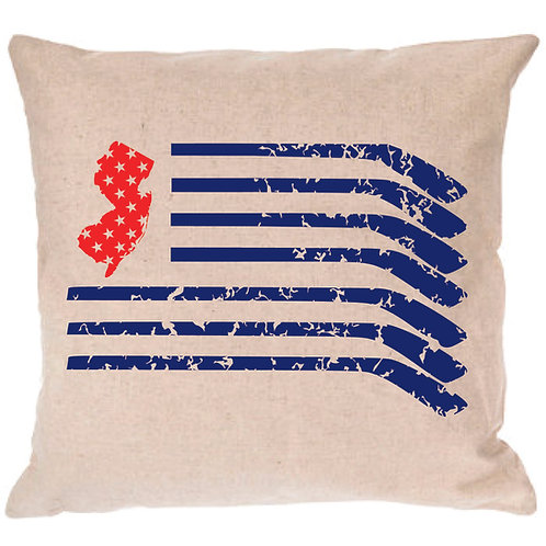 New Jersey Hockey Flag Pillow