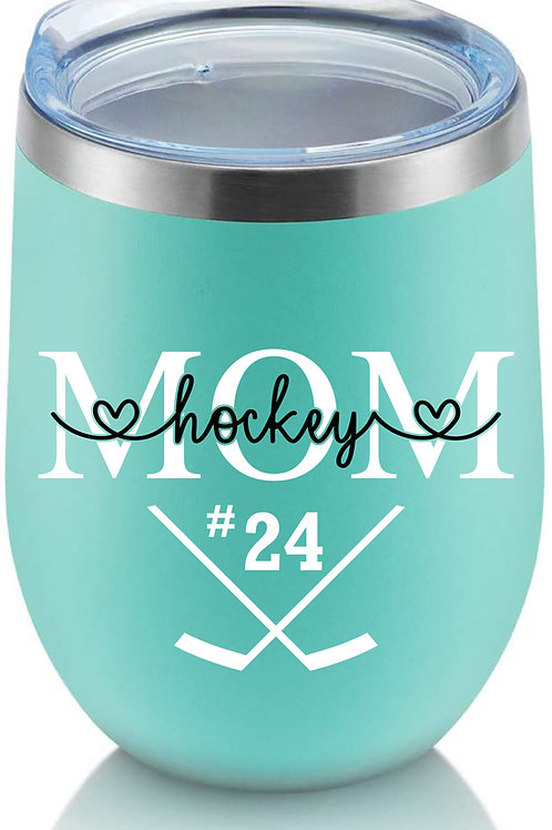 Personalized Hockey Mom Wine/Coffee Tumbler