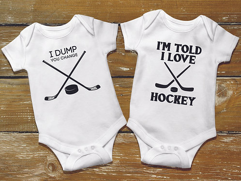 personalized products and custom gifts hockey onesie