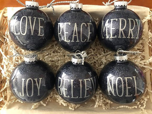 Holiday WORD Ornaments