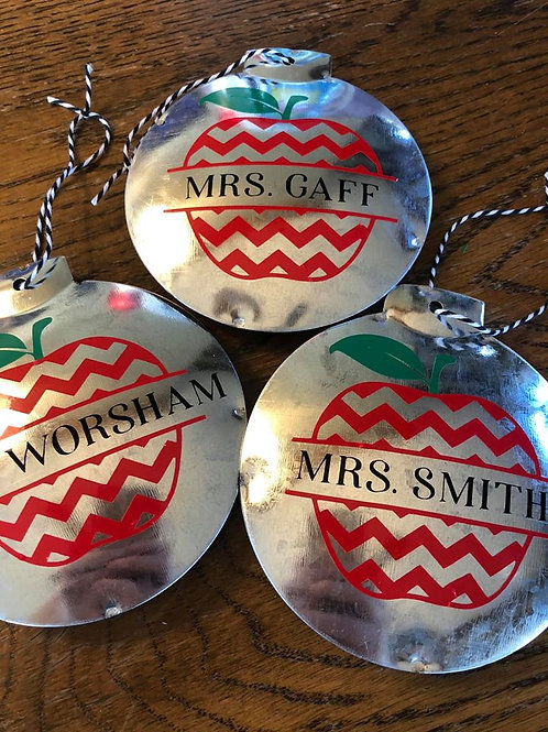 personalized products and gifts personalized christmas ornaments for teachers