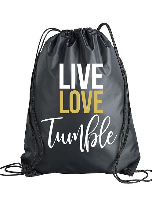 Live Love Tumble Drawstring Backpack