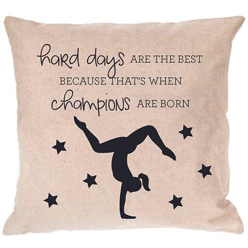 Gabby Douglas Gymnastics Quote Pillow