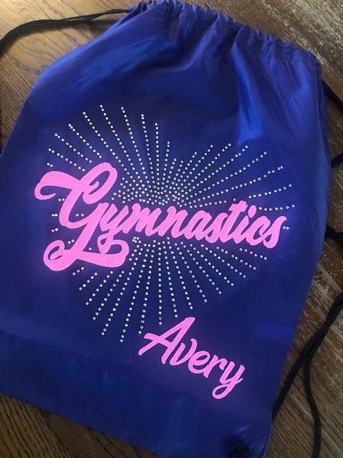 Personalized GYMNASTICS Drawstring Backpack