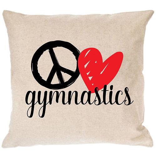 Peace, Love, GYMNASTICS Pillow