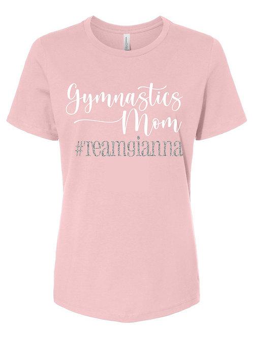 Personalized Gymnastics Mom T-Shirt