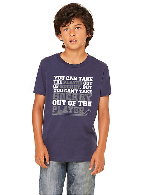 personalized products and gifts cant take hockey out of the player t-shirt blue