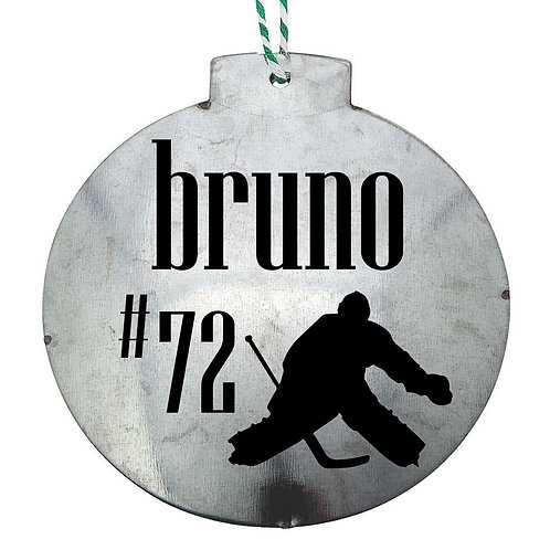 PERSONALIZED Goalie Ornament