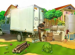 перевозка мебели загород