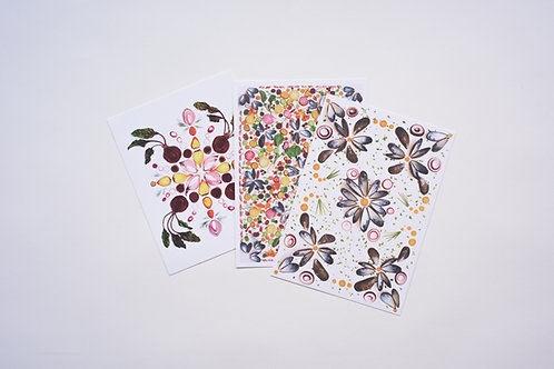 Food Patterns Greeting Cards