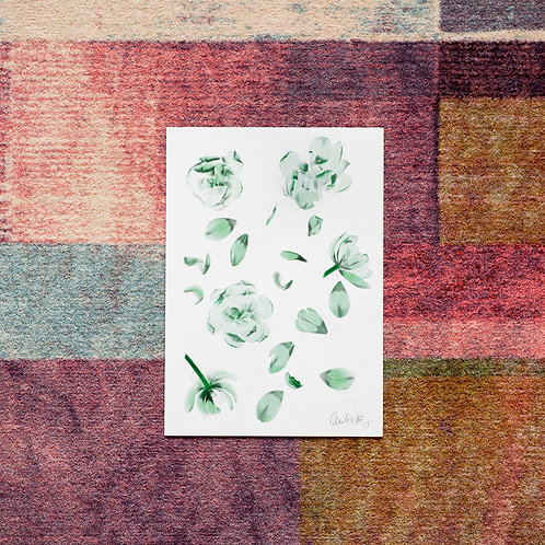 Tulipa pattern (Emerald) Artwork