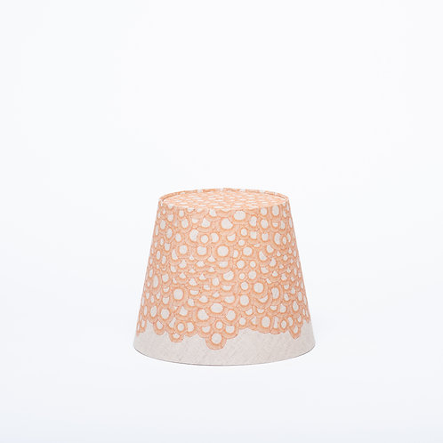 Petite Lace Lamp Shade Nature (orange)