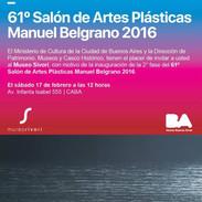 61 Salón Manuel Belgrano. Museo Sivori. 2016