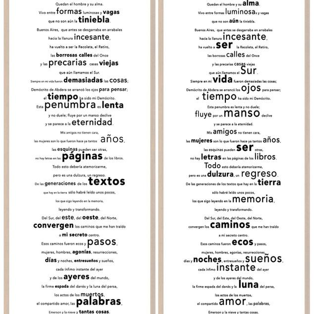 El destacado es mio. (Sobre un poema de J. L. Borges)