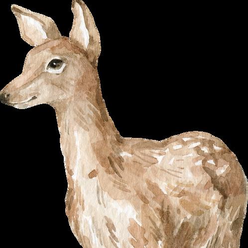 Deer Watercolor Animal Printable