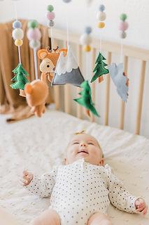 Woodland Baby Mobile Fox Nursery Decor W