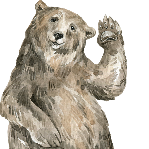 Bear Watercolor Animal Printable