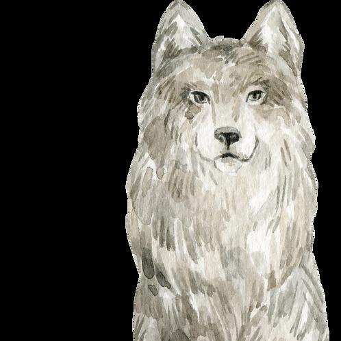 Wolf Watercolor Animal Printable
