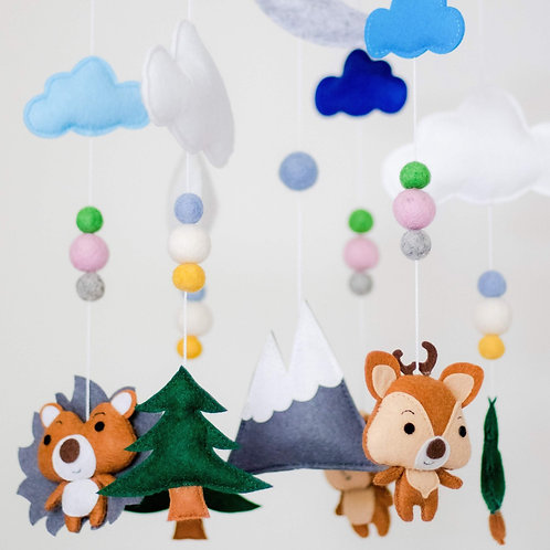 Woodland Animals Crib Mobile