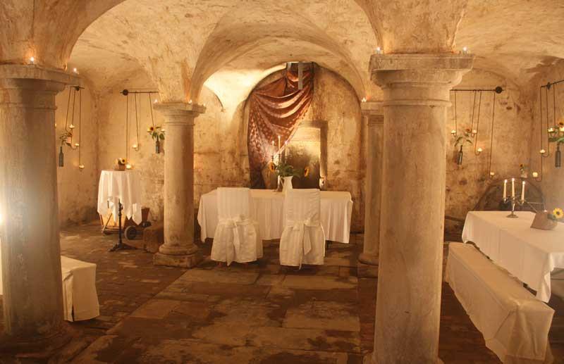 Hochzeit im Gewölbe