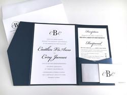 Simple Classic Wedding Invitation Suite