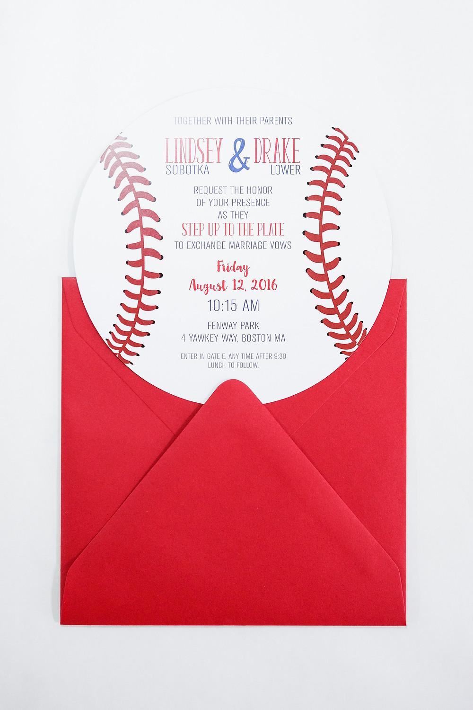 Baseball wedding invitation, baseball themed wedding, round invitation, sports invitation, iowa wedding
