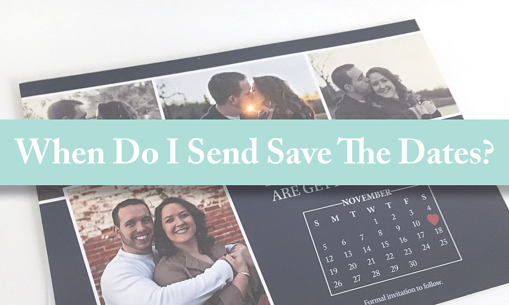When should Iowa brides and grooms send out save the dates?