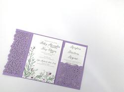Laser Lavender Pocket Invitation
