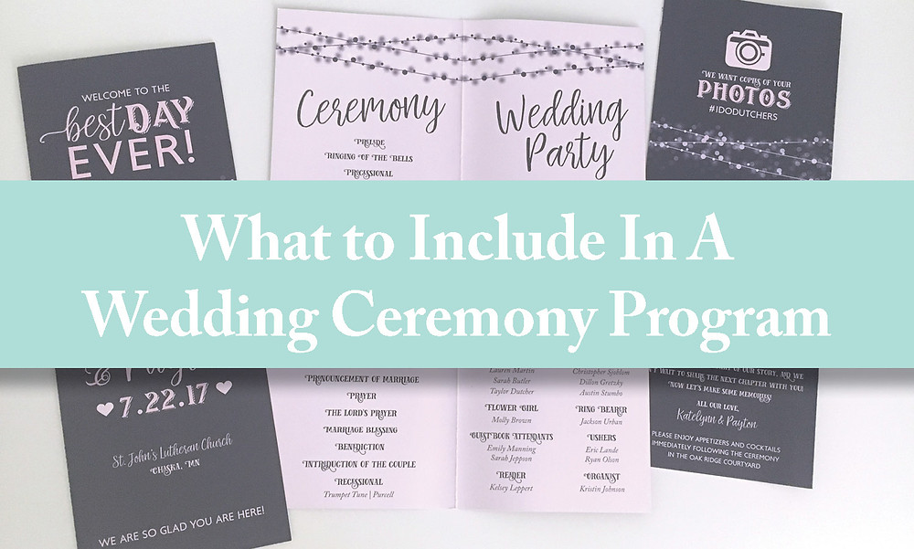 What to include in a wedding ceremony program