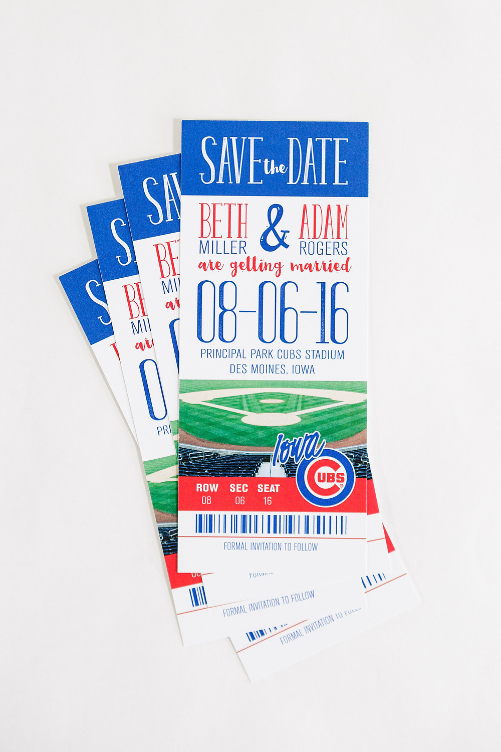 baseball wedding save the date, sports save the date, ticket save the date