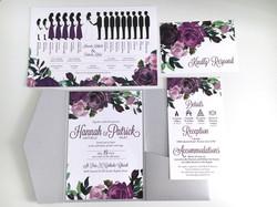 Purple Floral Invitation Suite