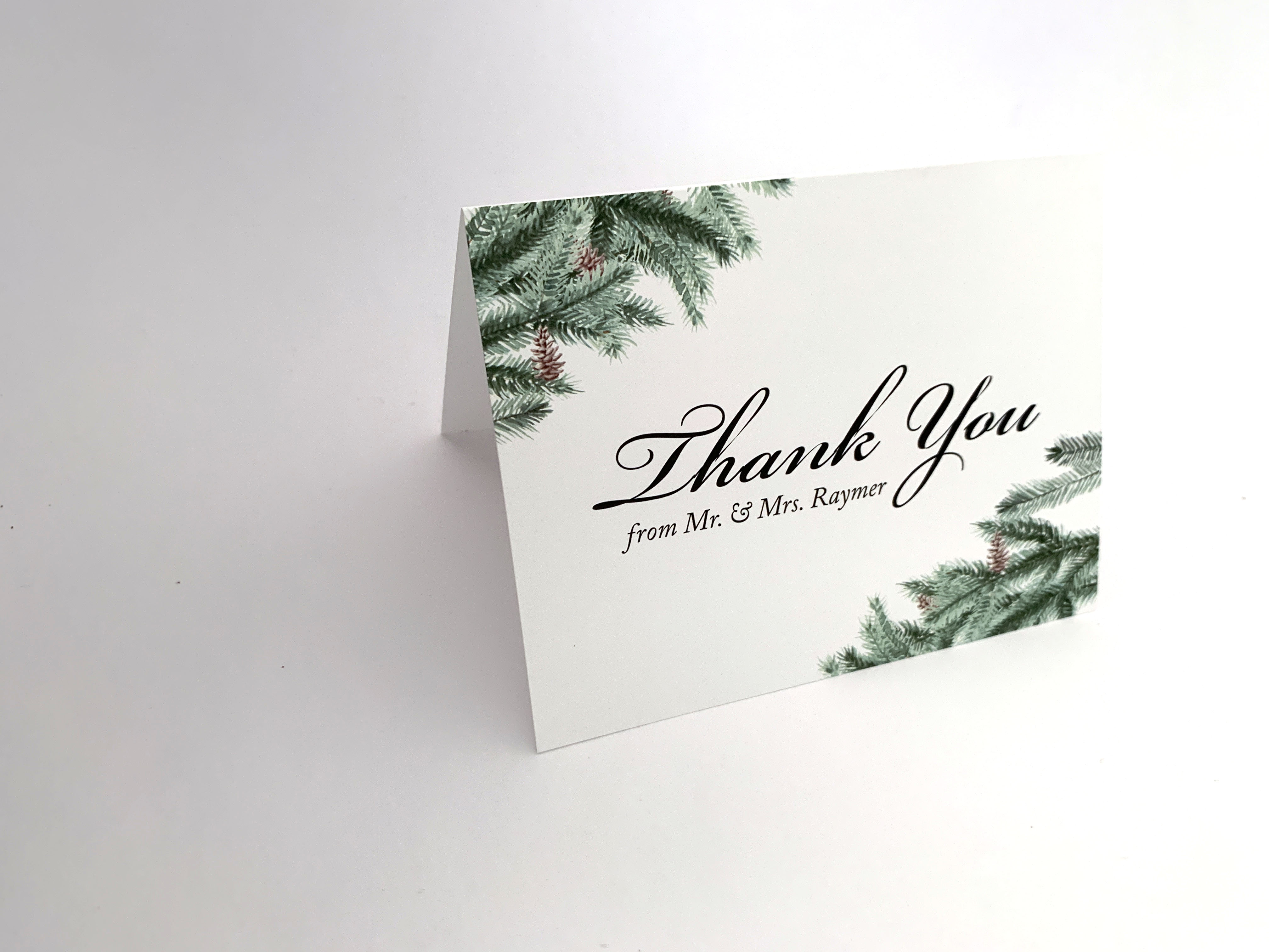 Evergreen Thank You Card