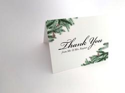Evergreen Thank You Card