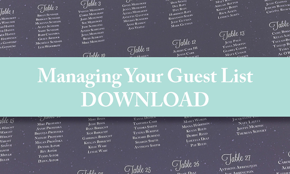 Manage Your Guest List with a Free Speadsheet Download Guestlist organizer.