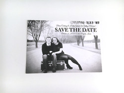 Black & White Photo Save the Date