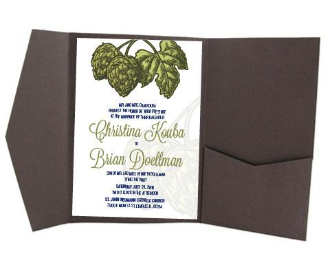 Cedar Rapids Iowa Wedding Invitation Suite Custom