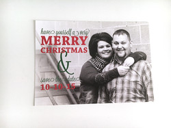 Christmas Card and Save the Date