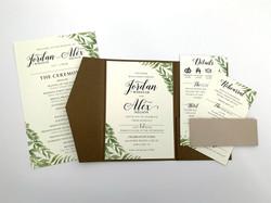Simple Greenery Invitation Suite