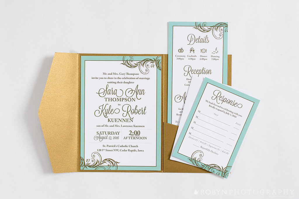 Iowa Wedding Invitations - EmDesign - Cedar Rapids Iowa City