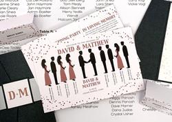 Rose Gold Silhouette Wedding Program